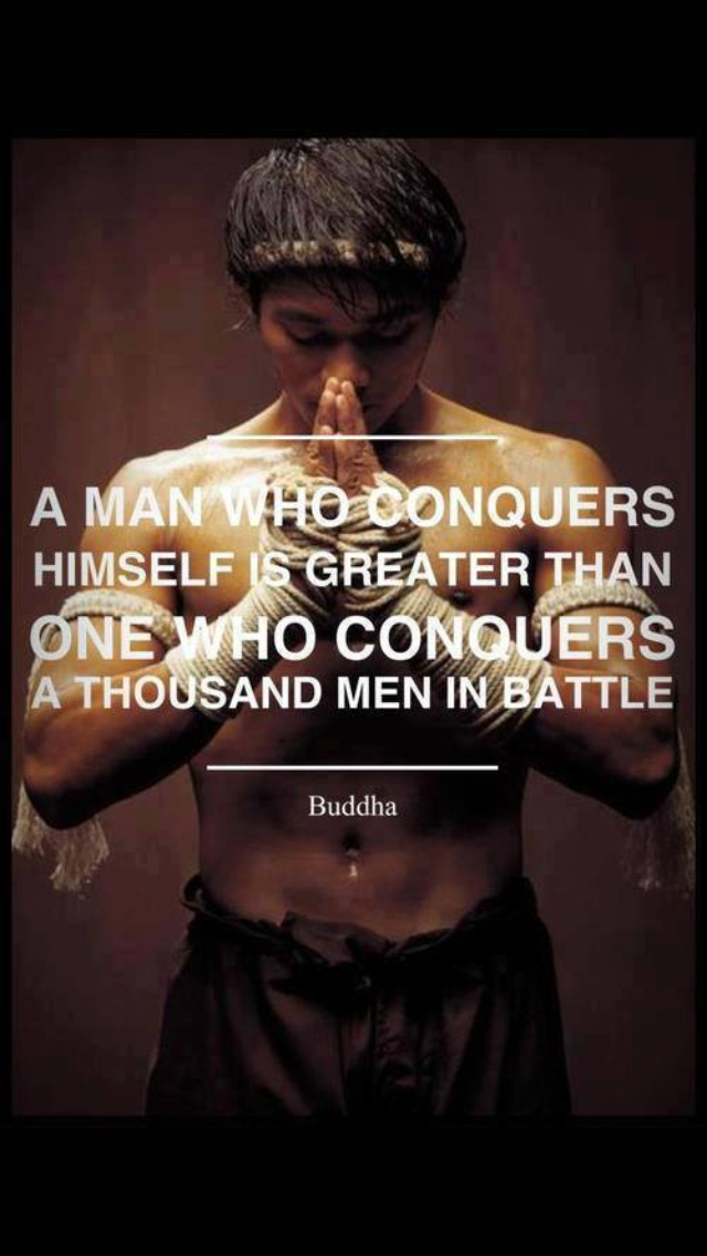 A man who conquers himself