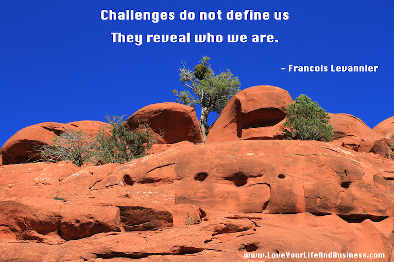 Challenges reveal who we are  small
