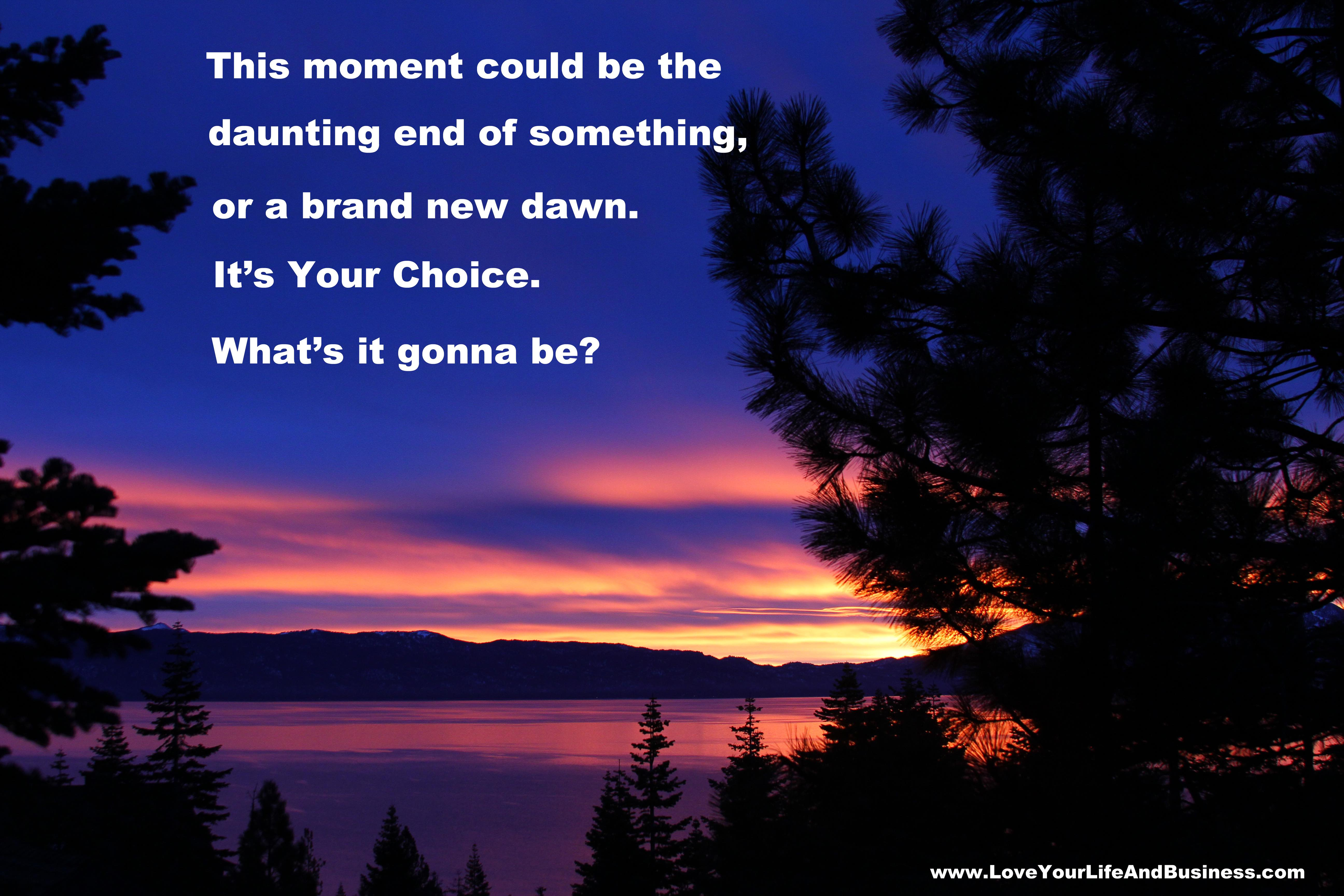 Tahoe Sunrise Its Your Choice Small